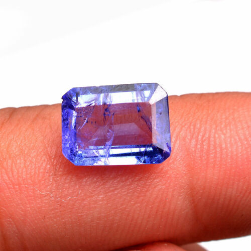 3.33 Cts Natural Tanzanite Stunning Blue Top Quality Octagon Certified Gemstone