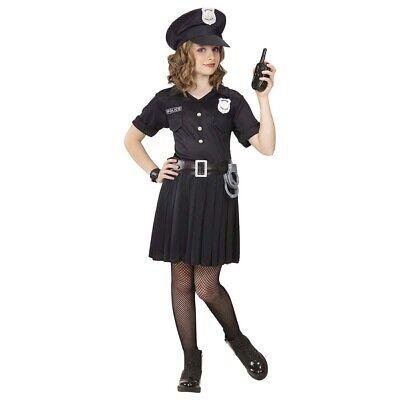 KINDER POLIZISTIN KOSTÜM & MÜTZE Karneval Mädchen Polizisten Cop Kleid und - Cop Kind Kostüm Mädchen