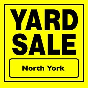 Garage Sale: Sunday 26th  North York. From 9:00am-1:00pm