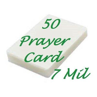Laminating Laminator Pouches Sheets Prayer Card 50 Pk 7 Mil 2-34 X 4-12