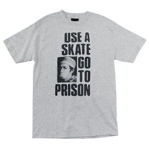 Thrasher-Magazine-Mark-Gonzales-USE-A-SKATE-GO-TO-PRISON-Shirt-ASH-MEDIUM