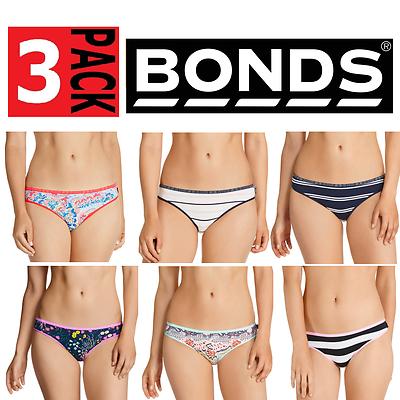 39863dd3c402 Details about ASSORTED 3 PAIRS x BONDS WOMENS HIPSTER BIKINI BRIEFS  Underwear Undies Panties