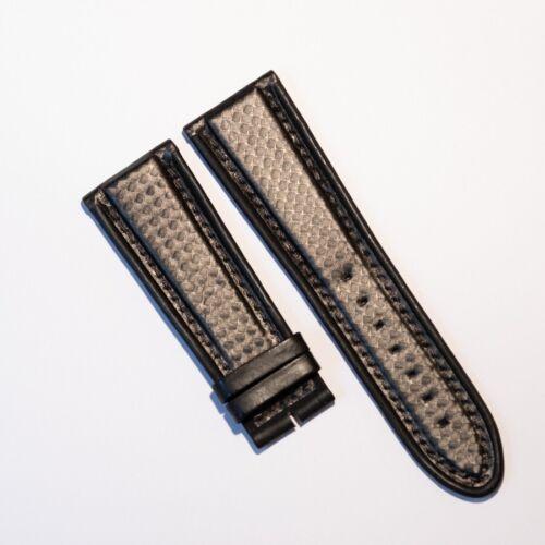 Original De Bethune Carbon Fiber Stil Leder Armband 26mm Schwarz NOS