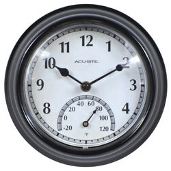 Thermostat Indoor Outdoor Analog Black Wall Clock,-20°F - 120°F, NEW! FREE SHIP!
