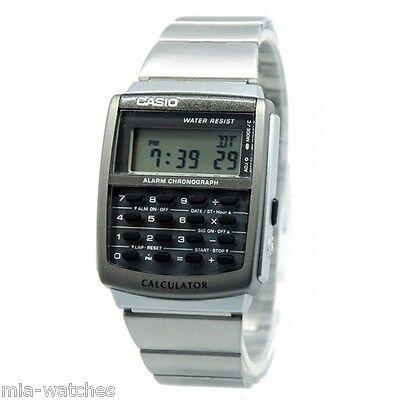 Casio CA506-1 Mens Classic Digital 8-Digit Calculator Stainless Steel Watch NEW