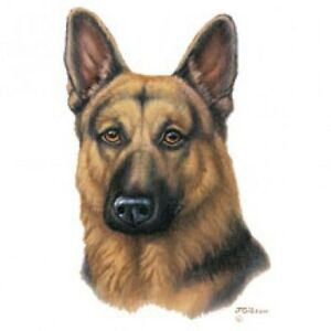 German Shepherd Dog Head Gibson Fabric One 18 X 22 In