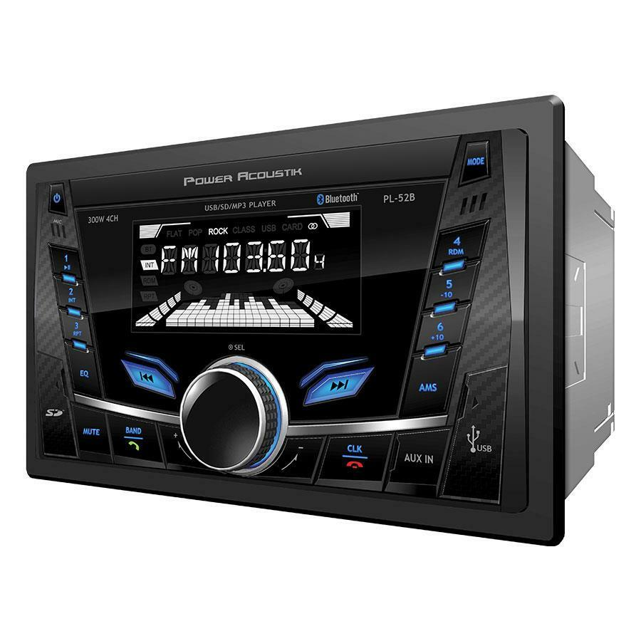 $49.90 - Power Acoustik Double Din PL-52B SD/WMA/MP3 Digital Media Player Bluetooth
