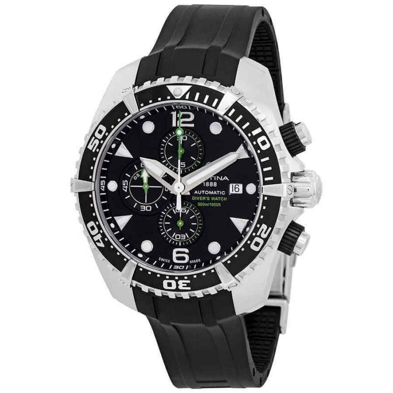 Certina DS Action Diver Chronograph Automatic Black Dial Men Watch