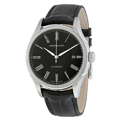 Hamilton Valiant Automatic Black Dial Leather Mens Watch H39515734