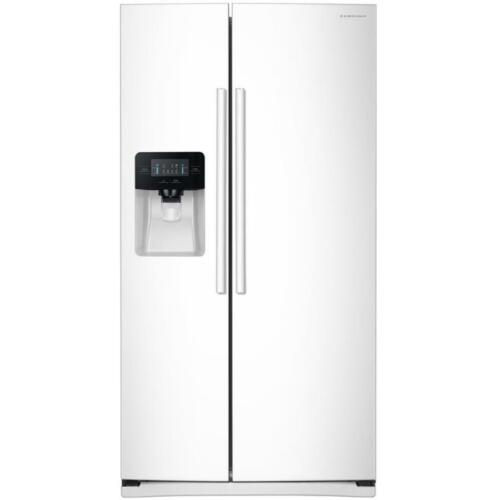 Samsung 24.5 Cu. Ft. Side-by-Side Refrigerator with Thru-the-Door Ice and Water White RS25J500DWW