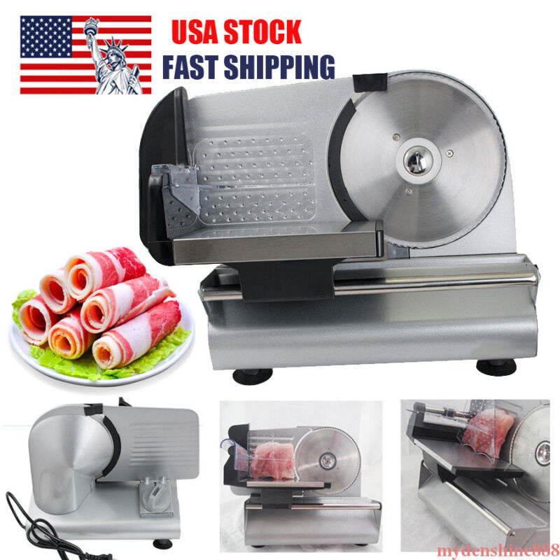 "Commercial 7.5"" Blade Electric Meat Slicer Cheese Deli Food Cutter Kitchen Home"