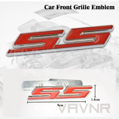 Hot Car Auto Truck 3D Metal Finished Red Ss Front Grille Grill Badge Emblem
