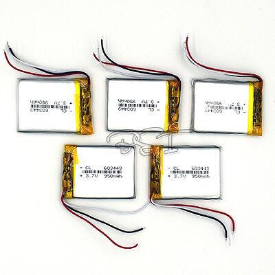 5pcs Lithium Li-polymer Rechargeable Li-ion 3.7v 950 Mah ...
