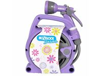 Brand new unopened Hozelcock garden hose with reel and spray gun RRP £28