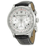 Baume and Mercier Capeland Chronograph Black Alligator Leather Mens Watch 10046