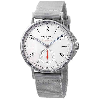 Nomos Ahoi Neomatik Automatic White Dial Grey Textile Mens Watch 560
