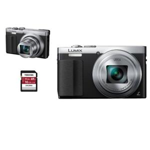 LUMIX ZS50 Silver + 16GB MEMORY CARD