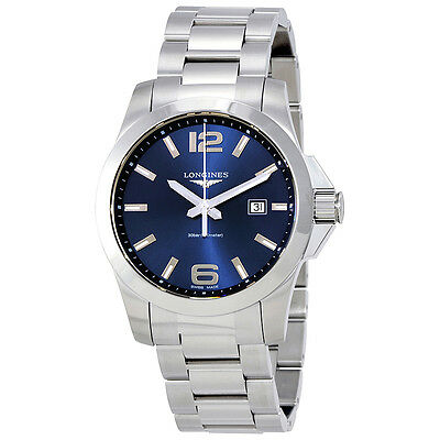 Longines Conquest Blue Dial Stainless Steel Ladies Watch L37604966