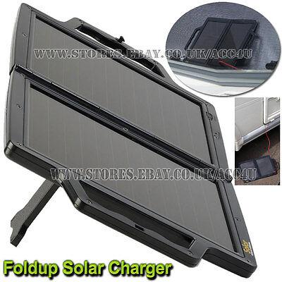 12v 4WP Portable Foldup Solar Panel Power Car Motorhome Battery Trickle Charger