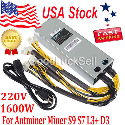 1600W Btc Apw3   Psu Mining Power Supply For Bitcoin Btc Antminer S7 S9 L3 D3 Us