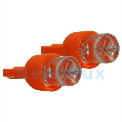 - 2 LED 194 AMBER LIGHT BULB WEDGE BASE~LICENSE PLATE/TURN SIGNAL/SIDE MARKER LAMP