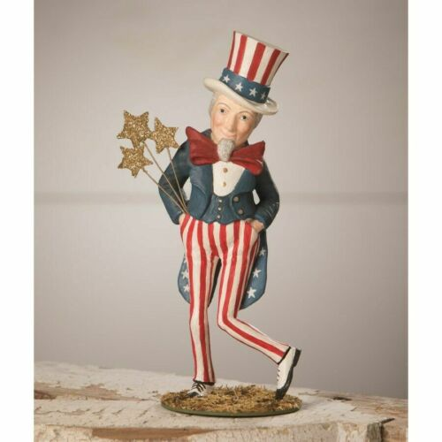 DANCING UNCLE SAM BETHANY LOWE 4TH OF JULY Americana Flag USA Decor NEW FOR 2021