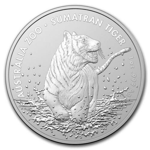 2020 Australia 1 oz Silver Sumatran Tiger BU 25K MINT