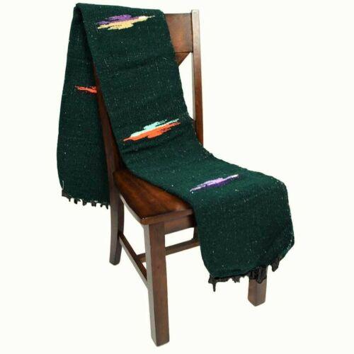 Green Mexican Blanket Forest Thunderbird Yoga Native Tapestry Falsa Throw XL
