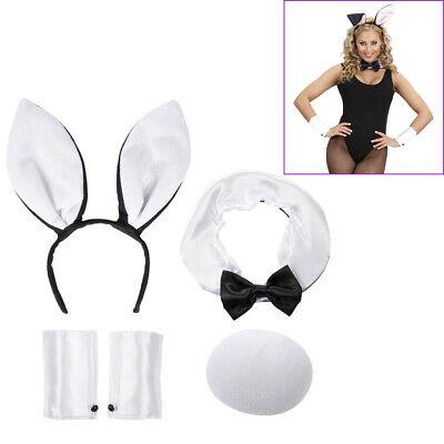 HASEN OHREN SCHWANZ FLIEGE Karneval Ostern Party Haarreif Tier Kostüm Bunny 8564 (Bunny Ohren Kostüme)