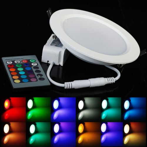 Color Changing Rgb 5w 10w Downlight Led Recessed Ceiling Panel Light Ir Remote
