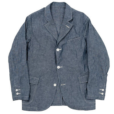 Workers 8.0oz Chambray Sport Coat Size 40 Blue Made In JAPAN NWT