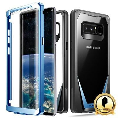 Poetic Samsung Galaxy Note 8 Case  Guardian Series  Shockproof Rugged Cover Blue