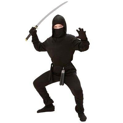 JA KOSTÜM Karneval Jungen Ninjakostüm Maske 128-140-158 0264 (Ninja Kostüm Maske)