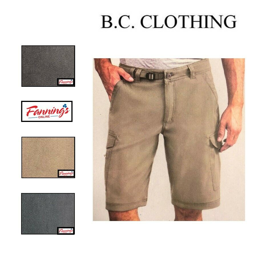 NEW! BC Clothing Men's Expedition Casual Stretch Shorts - VA