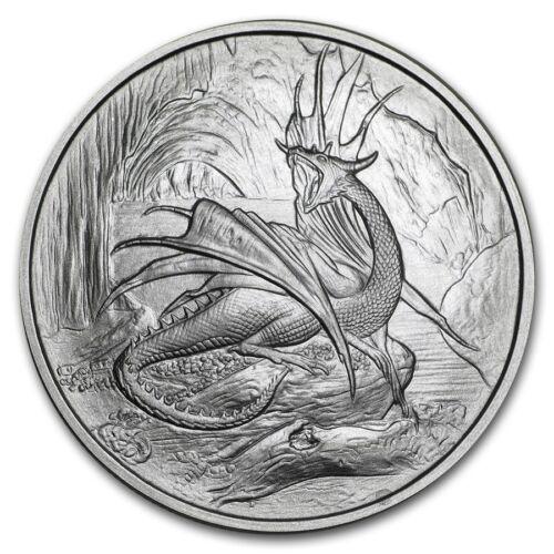 1 OZ .999 SILVER COIN NIDHOGGR DRAGON NORDIC CREATURE SERIES 1ST IN SERIES #CERT