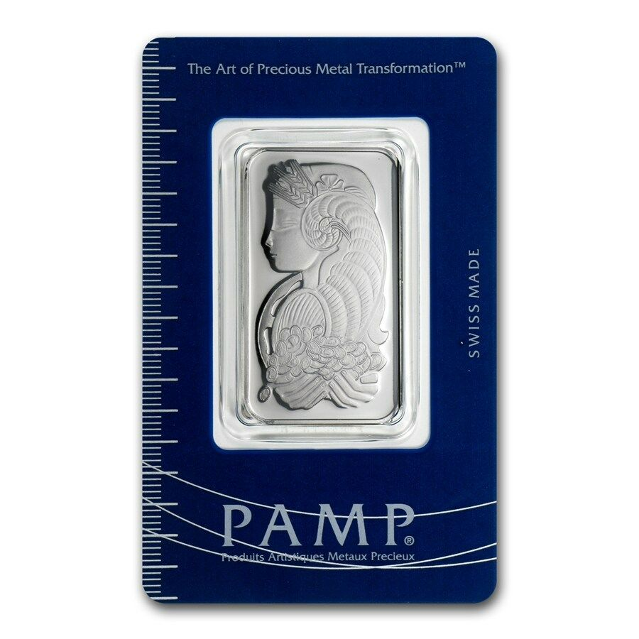 1 oz Platinum Bar - PAMP Suisse (In Assay)