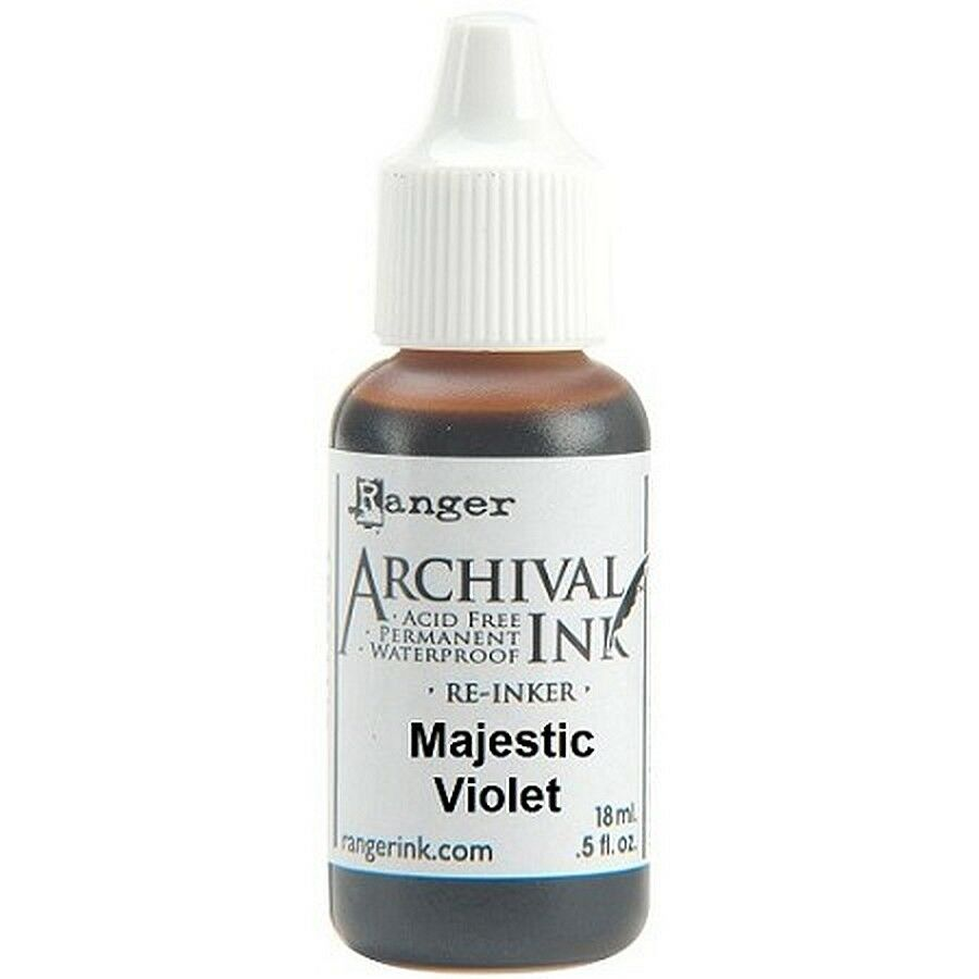 RANGER Archival Reinker .5oz Refill Ink for Stamp Pads Select from 55 colors Majestic Violet