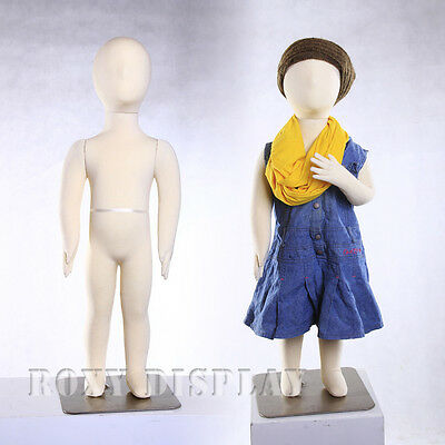 Child Flexible Bendable Full Body Form 1 years Manikin Dress Form #CH01T