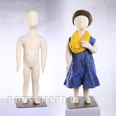 Child Flexible Bendable Full Body Form 1 Years Manikin Dress Form Ch01t