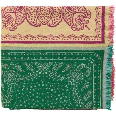 Indira by Surya Throw Blanket, Bright Pink/Lime - IRI1000-5070