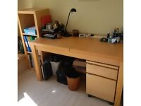 Home Office Furniture - Desk, Shelf, and small cabinet