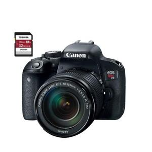 EOS REBEL T7I 18-135 IS STM + 32GB MEMORY CARD
