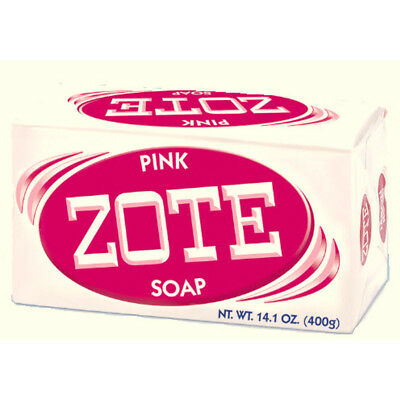 (LOT OF 4 BARS) ZOTE Pink Laundry Soap Bars, 14.1-Oz Each, 00571, NEW!