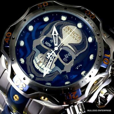 Invicta Reserve Venom Gen III Skull Steel Chronograph Swiss Mvt 52mm Watch New