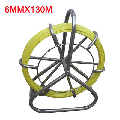 Fiberglass Wire Cable Pulling Rod Duct Rodder Fishtape Cable Puller 6mm 130m Usa