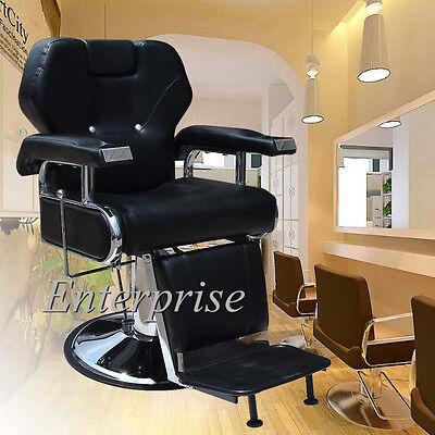 Barber Chair Salon Hydraulic Reclining for Hairdressing Tattoo Threading Shaving