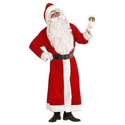 WEIHNACHTSMANN KOSTÜM Nikolaus Santa Claus Weihnachten Party Anzug Mantel  - Santa Mantel Kostüm