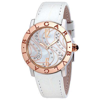 Bvlgari BVLGARI Automatic White Mother of Pearl Diamond Dial Ladies Watch 102027