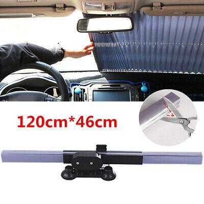 Folding Car Windshield Visor Curtain UV Screen Front+Rear Shade Blinds 46x120cm