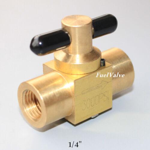 "Plug valve 1/4"" Brass NPT FF thread 3000PSI high pressure temp Zero leakage US"